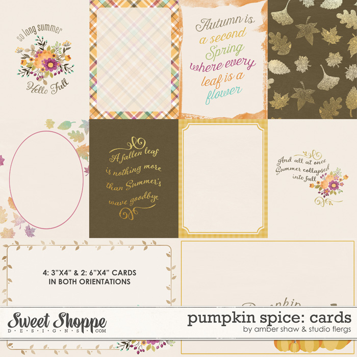 Pumpkin Spice: Cards by Amber Shaw & Studio Flergs