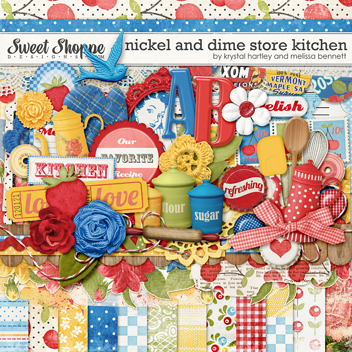 Nickel and Dime Store Kitchen by Krystal Hartley and Melissa Bennett