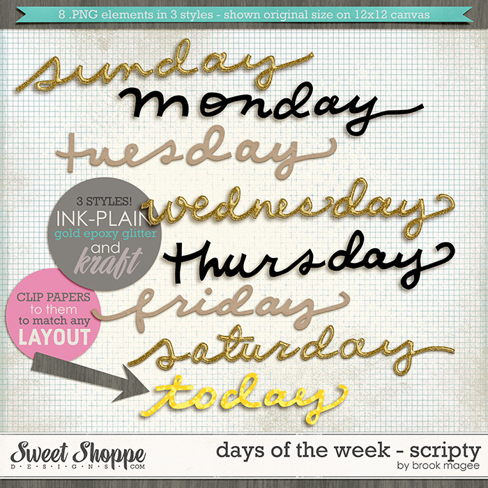 Days of the Week - Scripty by Brook Magee