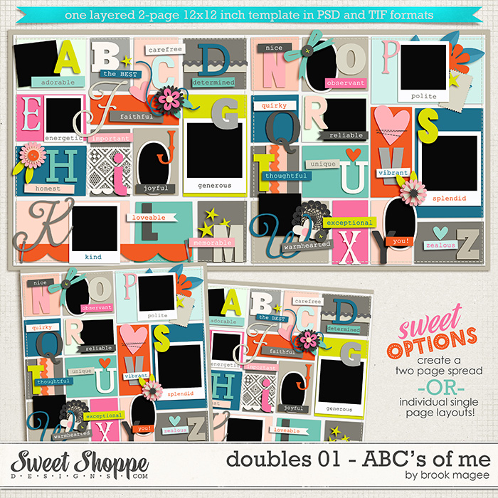 Brook's Templates - Doubles 01 - ABC's of Me by Brook Magee