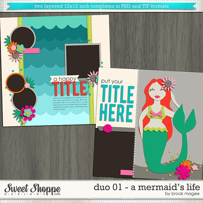 Brook's Templates - Duo 01 - A Mermaid's Life