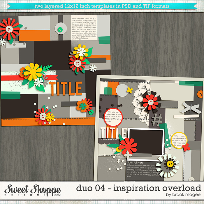 Brook's Templates - Duo 04 - Inspiration Overload by Brook Magee
