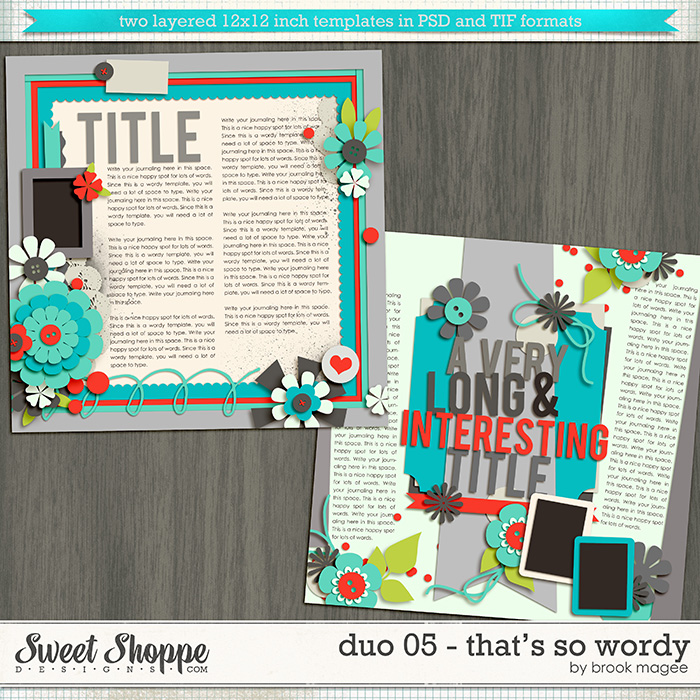 Brook's Templates - Duo 05 - That's So Wordy by Brook Magee