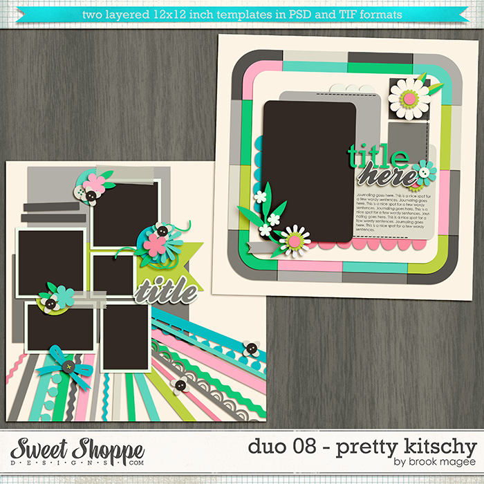 Brook's Templates - Duo 08 Pretty Kitschy by Brook Magee