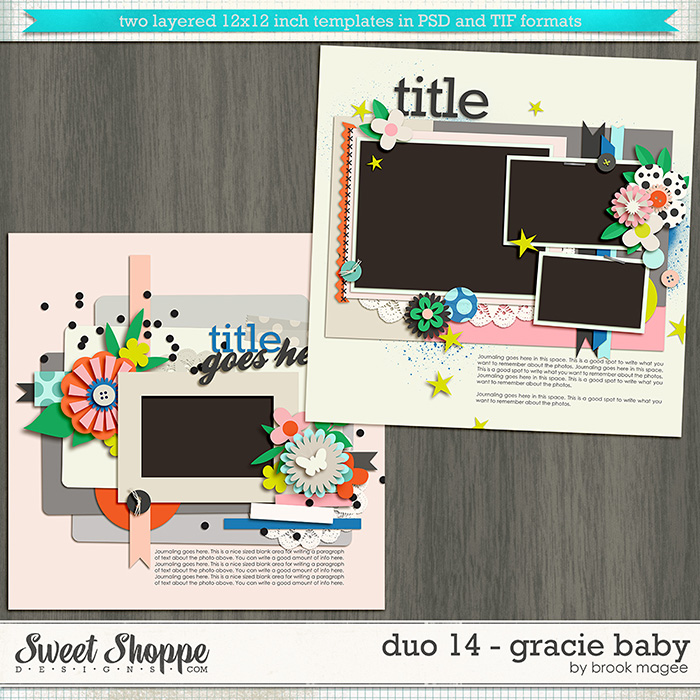 Brook's Templates - Duo 14 - Gracie Baby by Brook Magee