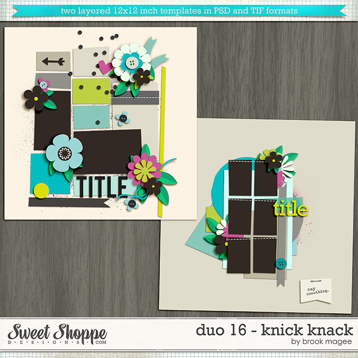 Brook's Templates - Duo 16 - Knick Knack by Brook Magee