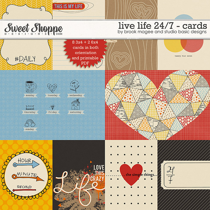 Live Life 24/7 - Cards by Brook Magee and Studio Basic