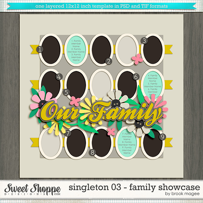 Brook's Templates - Singleton 03 - Family Showcase