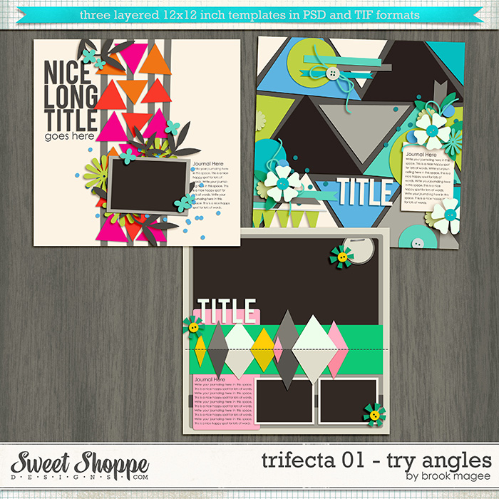 Brook's Templates - Trifecta 01 - Try Angles by Brook Magee