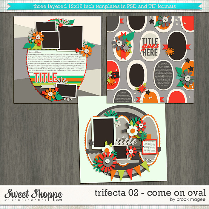 Brook's Templates - Trifecta 02 - Come on Oval by Brook Magee