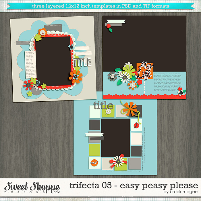 Brook's Templates - Trifecta 05 - Easy Peasy Please by Brook Magee