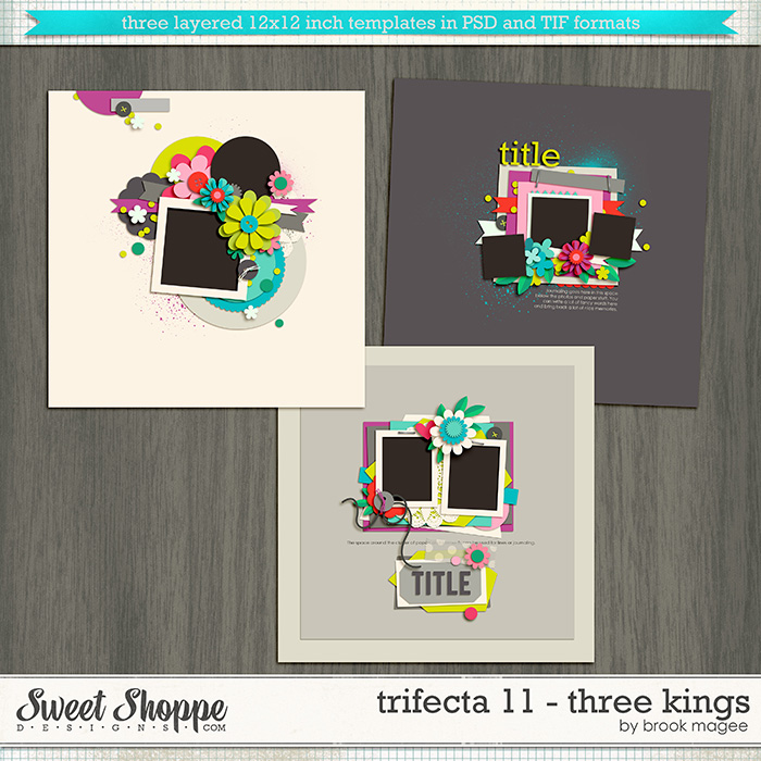 Brook's Templates - Trifecta 11 - Three Kings by Brook Magee