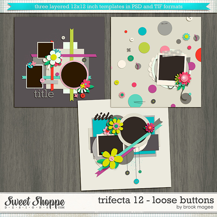 Brook's Templates - Trifecta 12 - Loose Buttons by Brook Magee