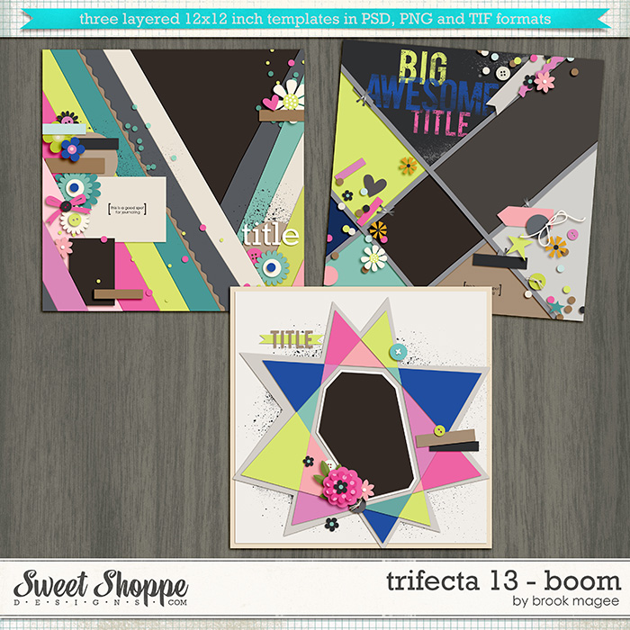 Brook's Templates - Trifecta 13 - Boom by Brook Magee