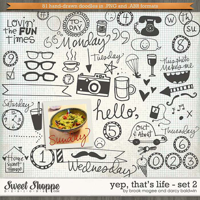 Yep, That's Life Set 2 by Brook Magee & Darcy Baldwin