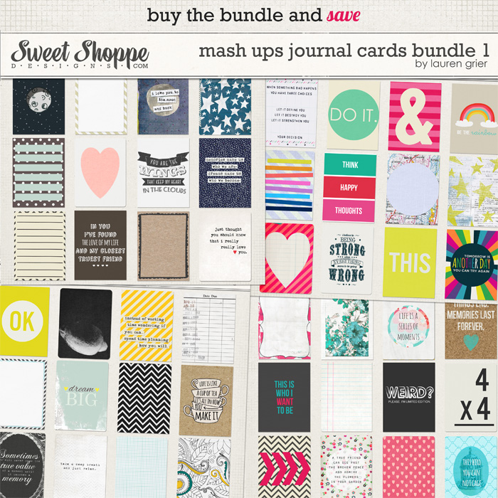 Mash Ups: Journal Cards Bundle 1 by Lauren Grier