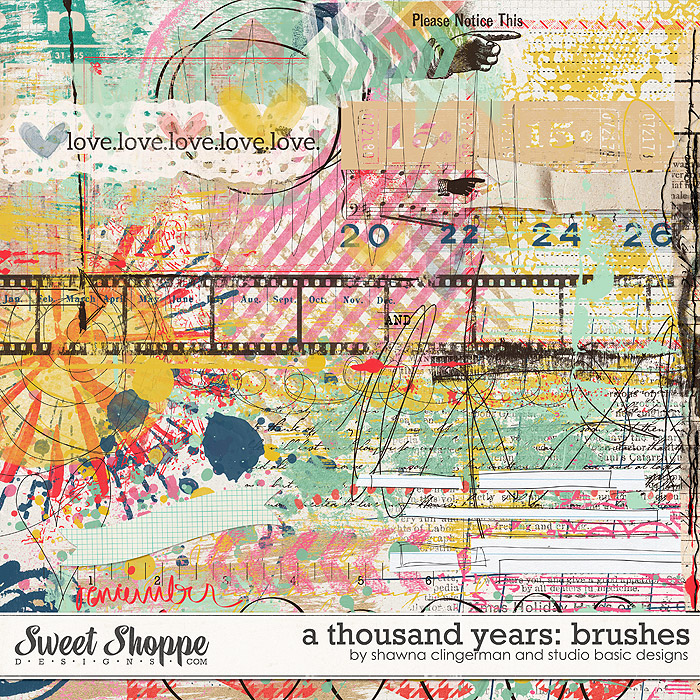 A Thousand Years: Brushes by Shawna Clingerman and Studio Basic