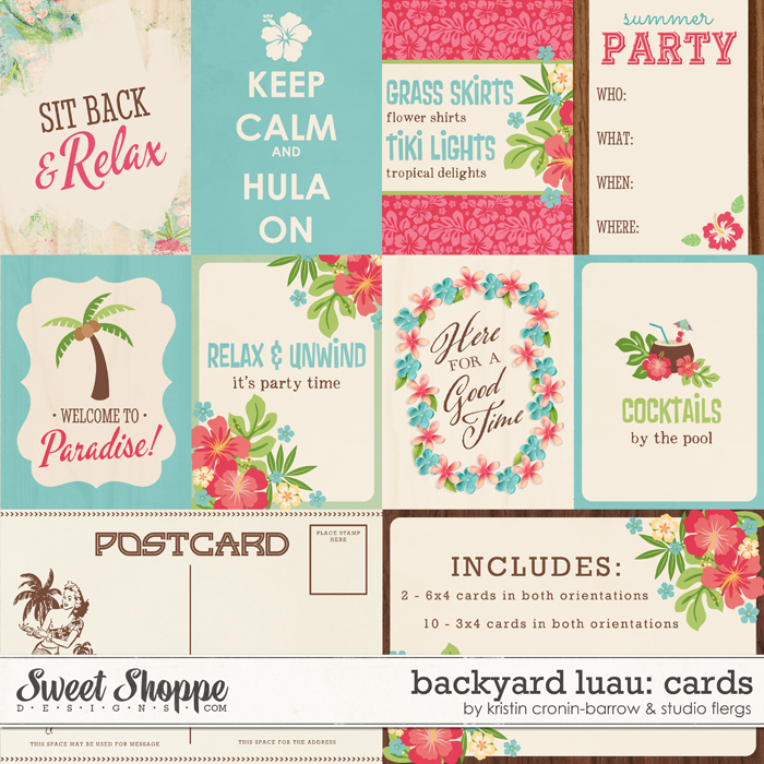 Backyard Luau: CARDS by Kristin Cronin-Barrow & Studio Flergs