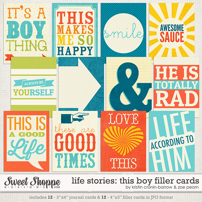 Life Stories: This Boy Filler Cards by Kristin Cronin-Barrow & Zoe Pearn