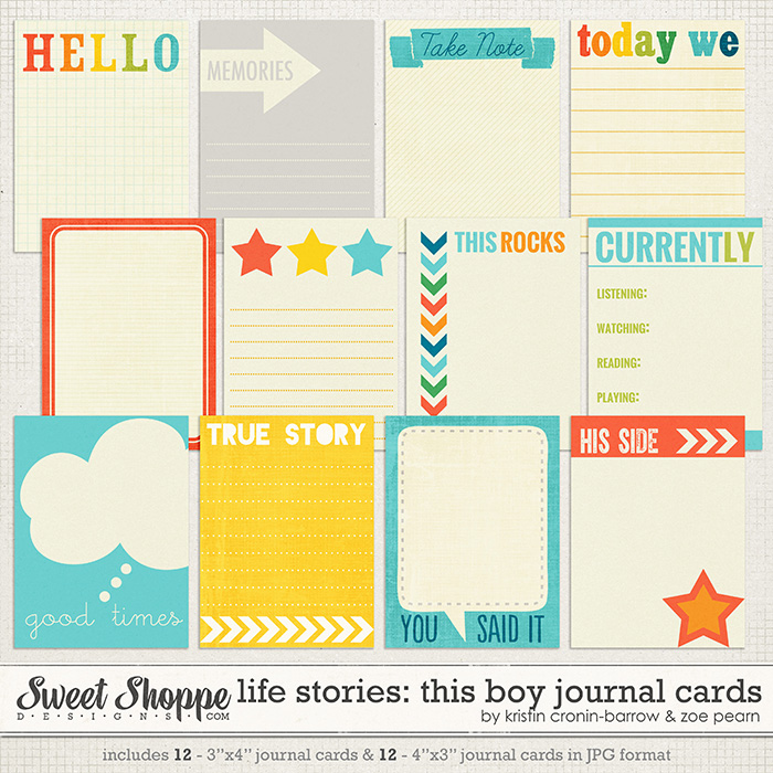 Life Stories: This Boy Journal Cards by Kristin Cronin-Barrow & Zoe Pearn