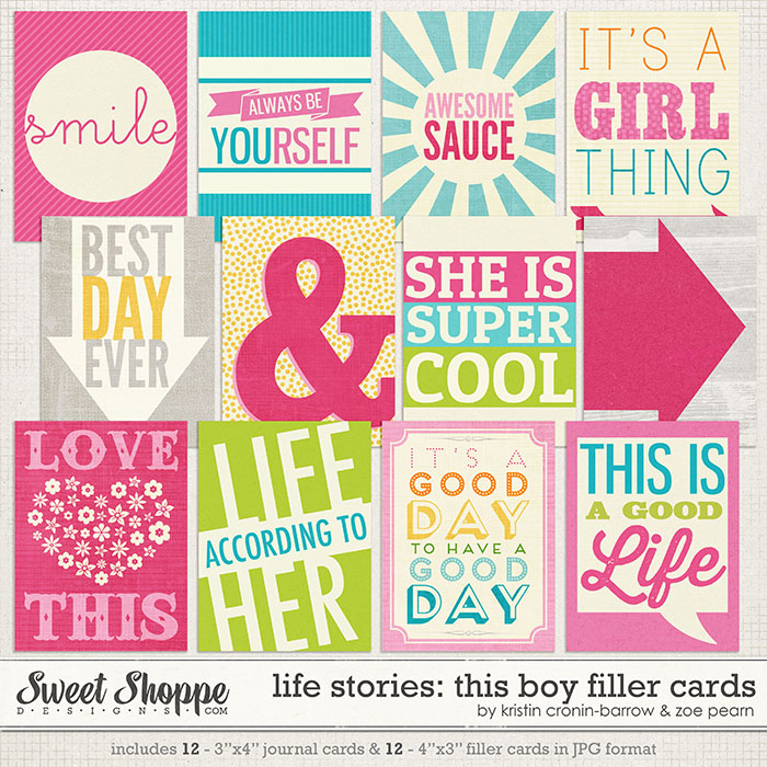 Life Stories: This Girl Filler Cards by Kristin Cronin-Barrow & Zoe Pearn