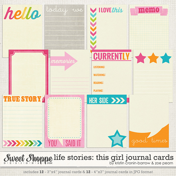 Life Stories: This Girl Journal Cards by Kristin Cronin-Barrow & Zoe Pearn
