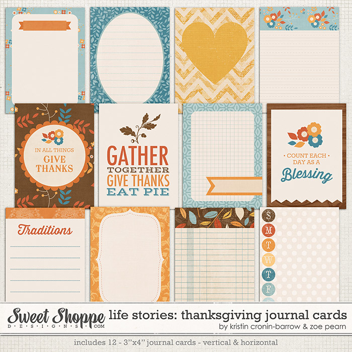 Life Stories: Thanksgiving Journal Cards by Kristin Cronin-Barrow & Zoe Pearn