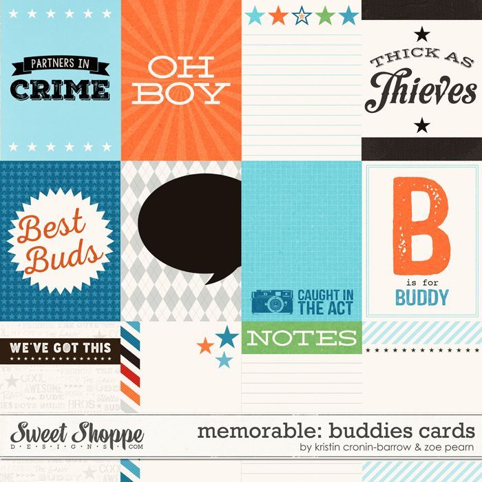 Memorable: Buddies Journal Cards by Kristin Cronin-Barrow & Zoe Pearn