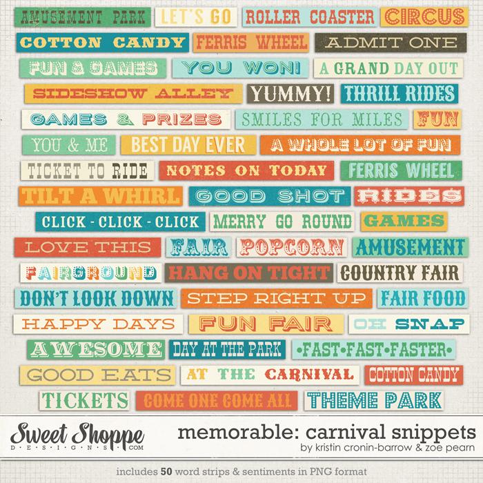 Memorable: Carnival Snippets by Kristin Cronin-Barrow & Zoe Pearn