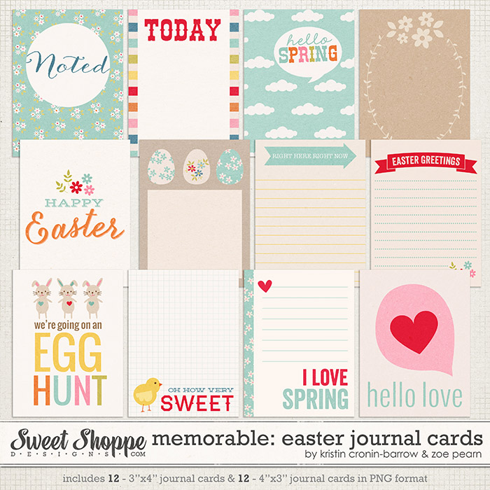 Memorable: Easter Journal Cards by Kristin Cronin-Barrow & Zoe Pearn