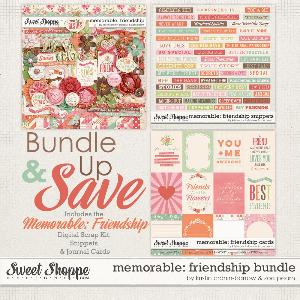 Memorable: Friendship Value Bundle by Kristin Cronin-Barrow & Zoe Pearn