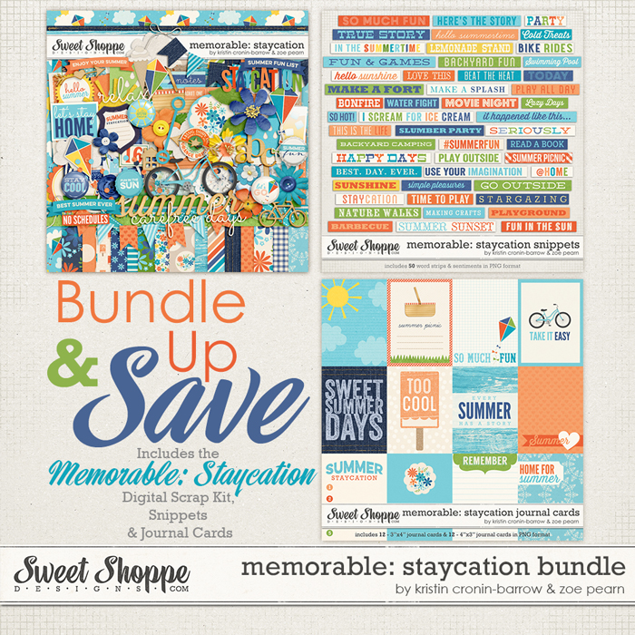 Memorable: Staycation Value Bundle by Kristin Cronin-Barrow & Zoe Pearn