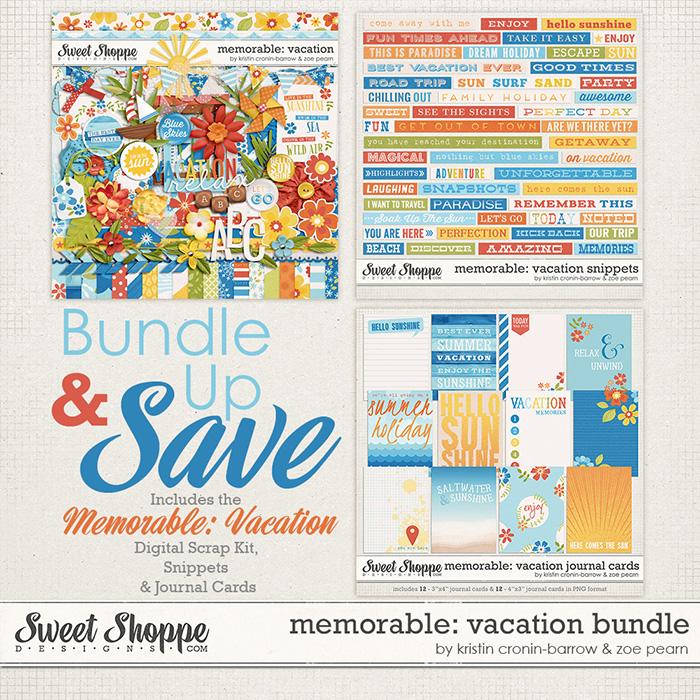 Memorable: Vacation Bundle by Kristin Cronin-Barrow & Zoe Pearn