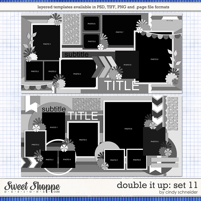 Cindy's Layered Templates - Double It Up Set 11 by Cindy Schneider