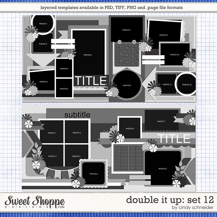Cindy's Layered Templates - Double It Up Set 12 by Cindy Schneider