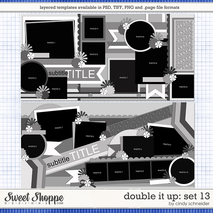 Cindy's Layered Templates - Double It Up Set 13 by Cindy Schneider