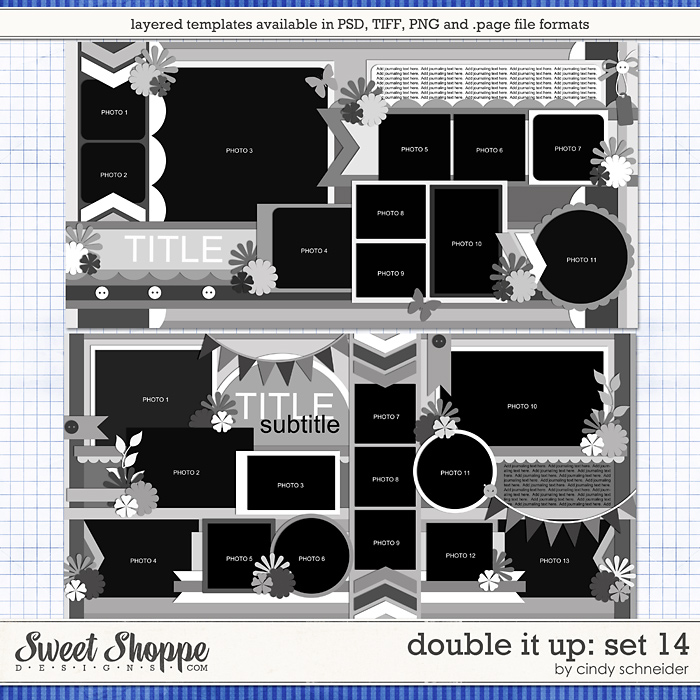 Cindy's Layered Templates - Double It Up Set 14 by Cindy Schneider