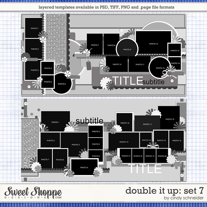Cindy's Layered Templates - Double It Up Set #7 by Cindy Schneider