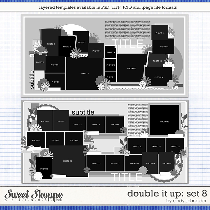 Cindy's Layered Templates - Double It Up Set #8 by Cindy Schneider