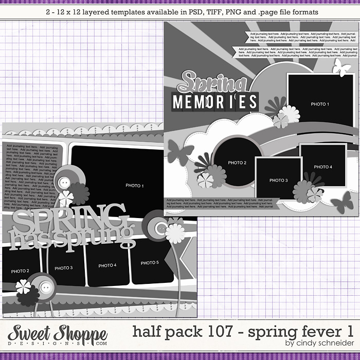 Cindy's Layered Templates - Half Pack 107: Spring Fever by Cindy Schneider