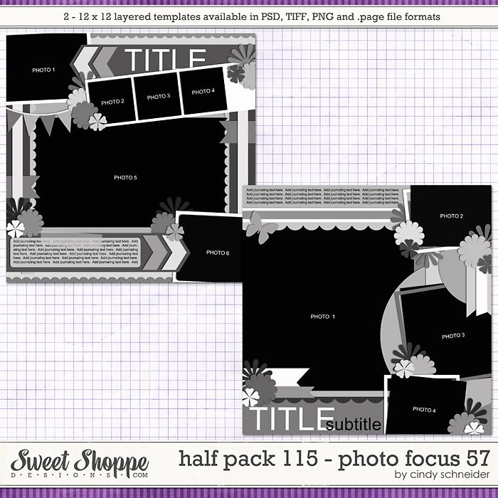 Cindy's Layered Templates - Half Pack 115: Photo Focus 57 by Cindy Schneider