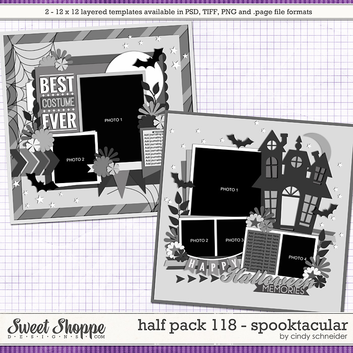 Cindy's Layered Templates - Half Pack 118: Spooktacular by Cindy Schneider