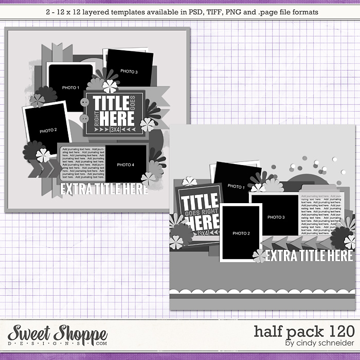 Cindy's Layered Templates - Half Pack 120 by Cindy Schneider