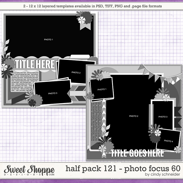 Cindy's Layered Templates - Half Pack 121: Photo Focus 60 by Cindy Schneider