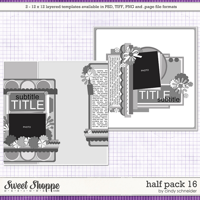 Cindy's Layered Templates - Half Pack 16 by Cindy Schneider