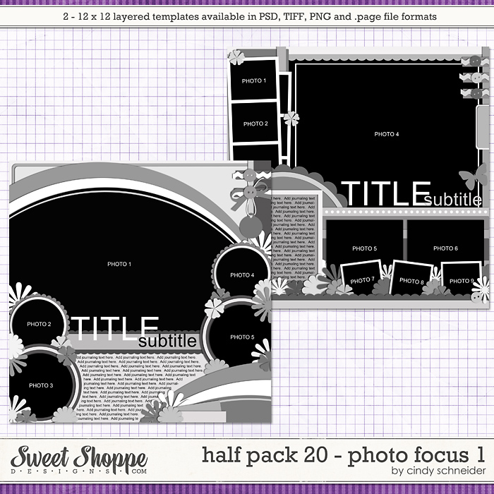 Cindy's Layered Templates - Half Pack 20 Photo Focus 1 by Cindy Schneider
