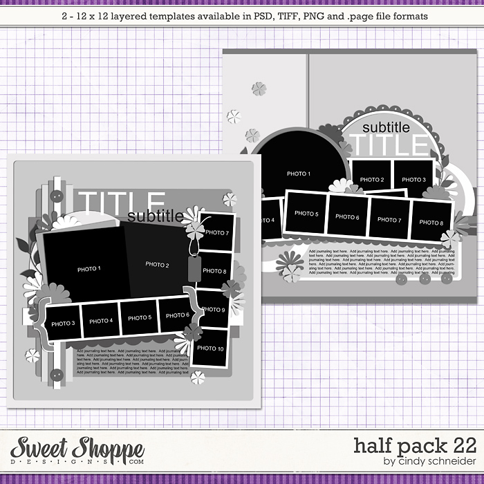Cindy's Layered Templates - Half Pack 22 by Cindy Schneider