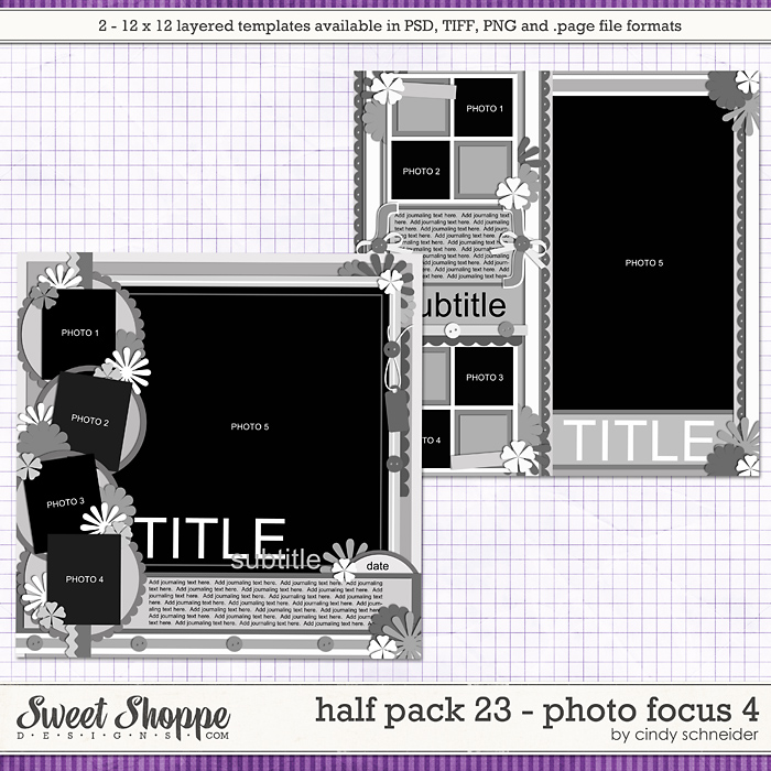 Cindy's Layered Templates - Half Pack 23 Photo Focus 4 by Cindy Schneider