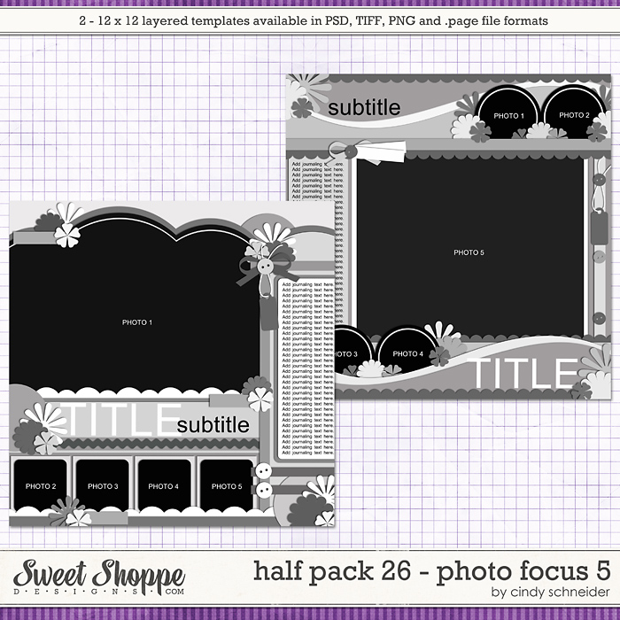 Cindy's Layered Templates - Half Pack 26 Photo Focus 5 by Cindy Schneider