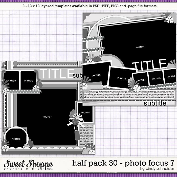 Cindy's Layered Templates - Half Pack 30: Photo Focus 7 by Cindy Schneider